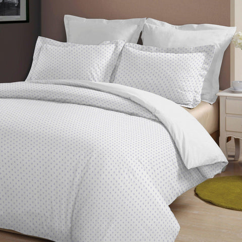 Brielle Home Fashion Fleur de Lis 100% Cotton Duvet Cover set