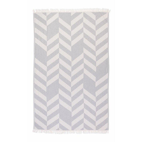 Brielle Home Fashion Chevron 100% Cotton Turkish Peshtemal Towels