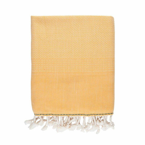 Brielle Home Fashion Tan 100% Cotton Turkish Peshtemal Towels