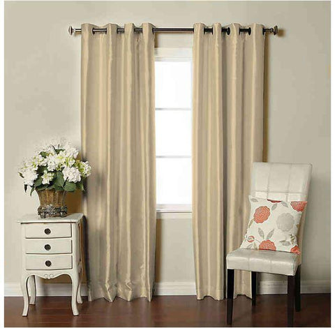 Brielle Home Fortune Grommet Top Room Darkening Window Curtain Panel