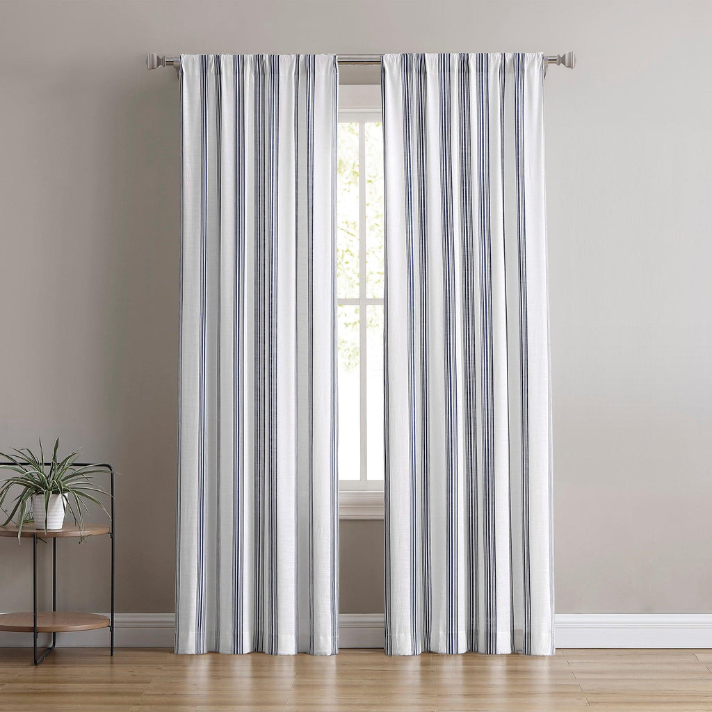 Brielle Home Flannery 100% Cotton Window Curtain Panel-Pack of Two