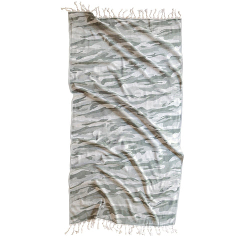 Brielle Home Camo Turkish Peshtemal Towel