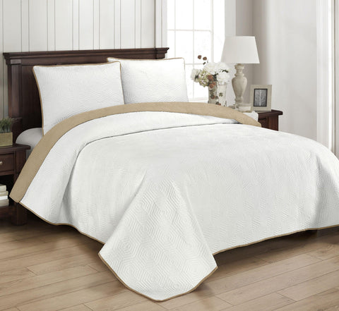 Brielle Home Honeycomb Reversible Quilt Set