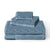 Brielle Home Jacquard Towel Set Bluestone