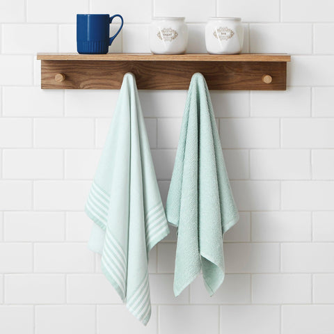 Brielle Home 2 Peice Kitchen Towel Mint