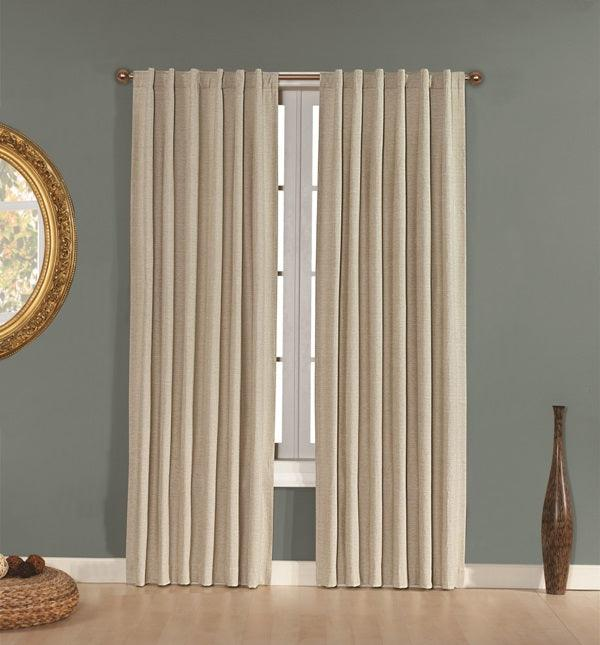 Brielle Home Manhattan Rod Pocket Curtain Panel
