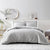 Brielle Home Pierce Waffle Comforter Grey