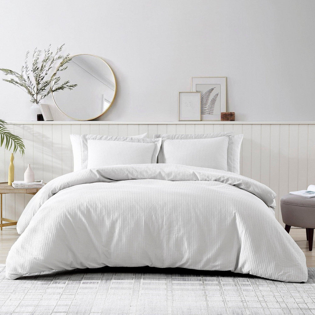 Brielle Home Pierce Waffle Comforter White