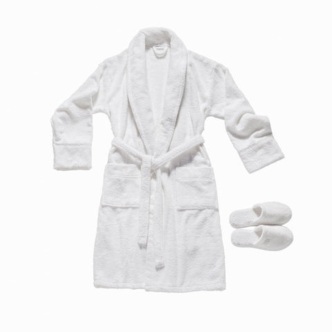 Valeron® 100% Cotton Bathrobe & Slipper Set