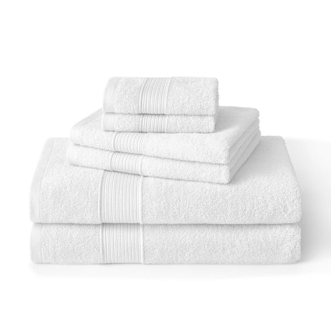 Brielle Home 6 Piece Turkish Cotton Towel Set White