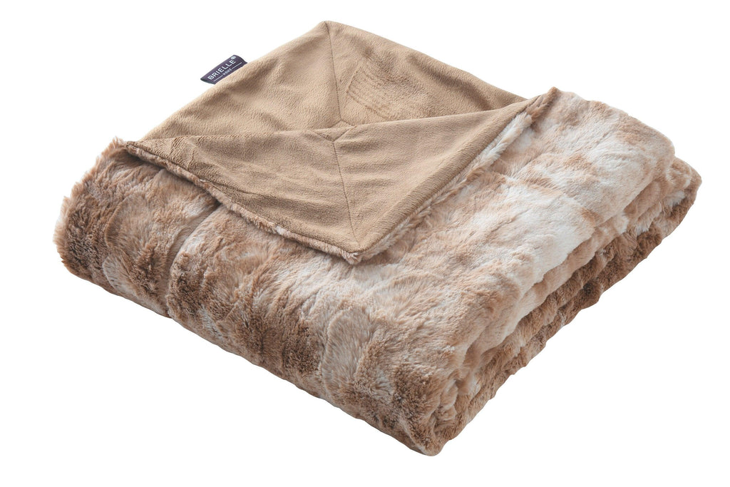 Brielle Home Nesting Faux Fur Blanket