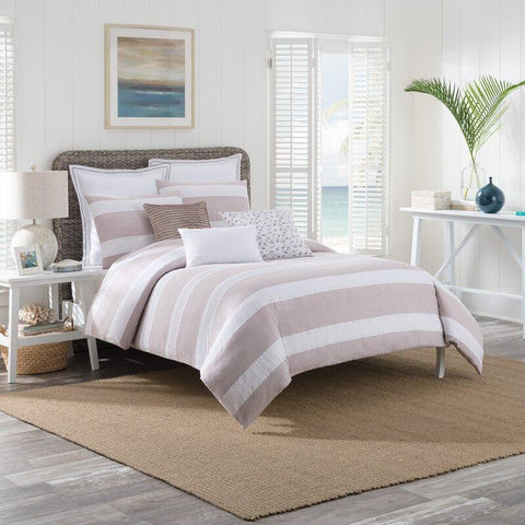 Brielle Home Montauk 100% Cotton Duvet Cover Set