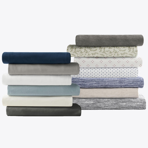 Brielle Home 100% Cotton Jersey Knit Sheet Set
