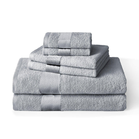 Brielle Home Solid Towel Set Grey