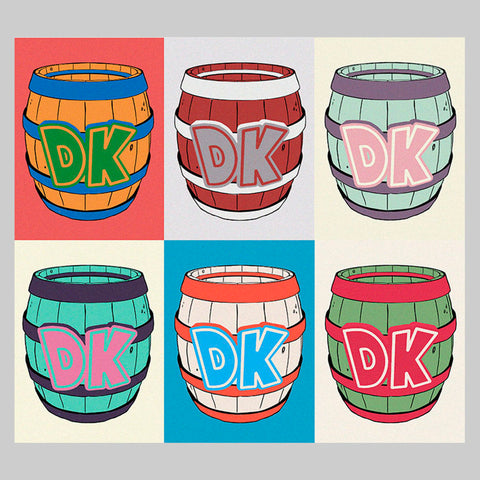 Donkey Kong's Barrel by Andy Warhol