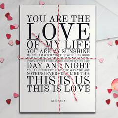 valentine's day perfect gift - love poster