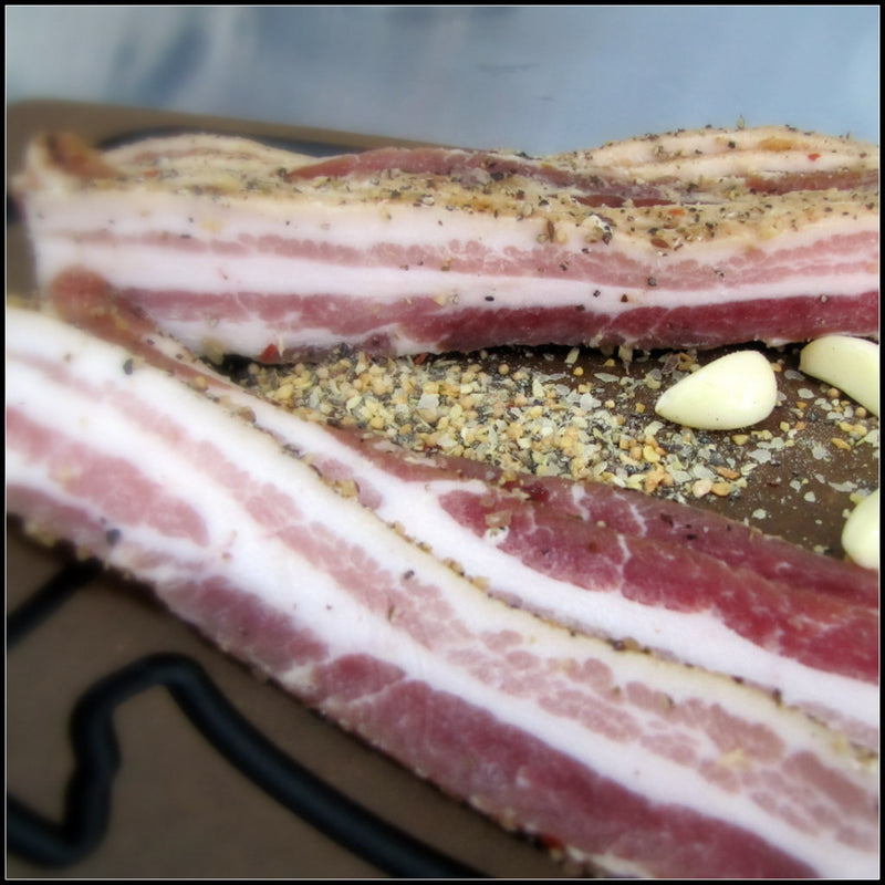 GARLIC and BLACK PEPPER BACON