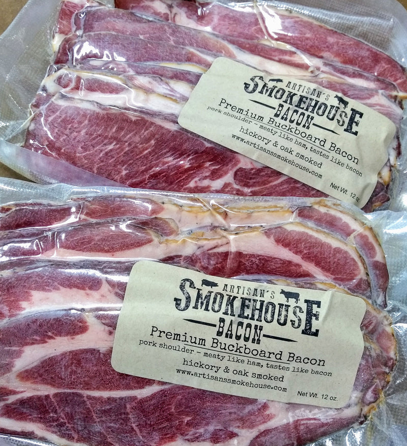 PREMIUM BUCKBOARD BACON (Pork shoulder bacon)