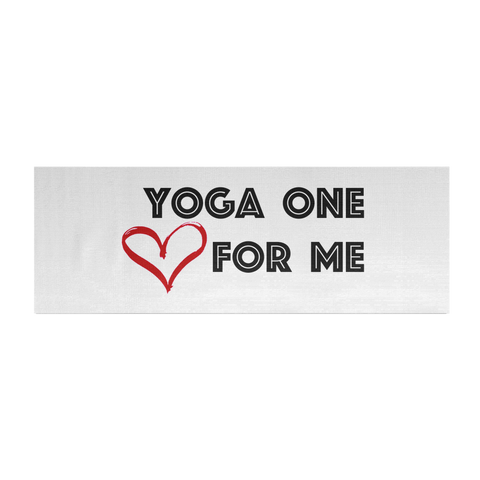 Yoga Mat - Yoga One For Me (heart)