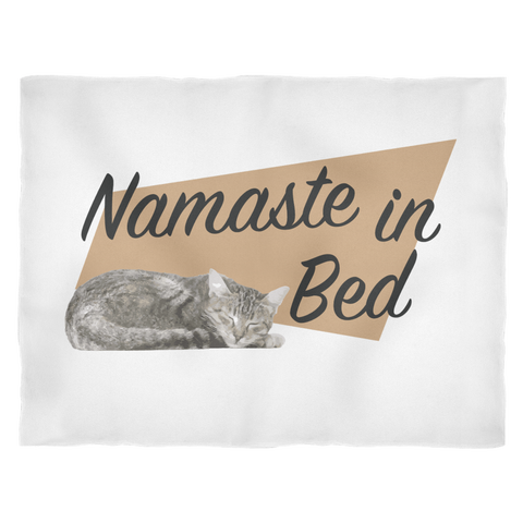 Fleece Blanket - Namaste in Bed