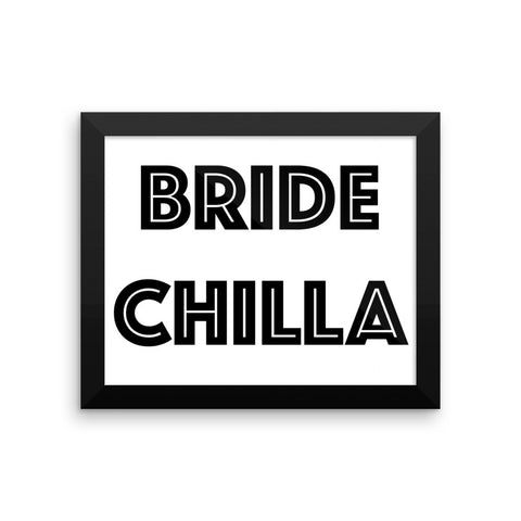 Framed poster - Bride Chilla