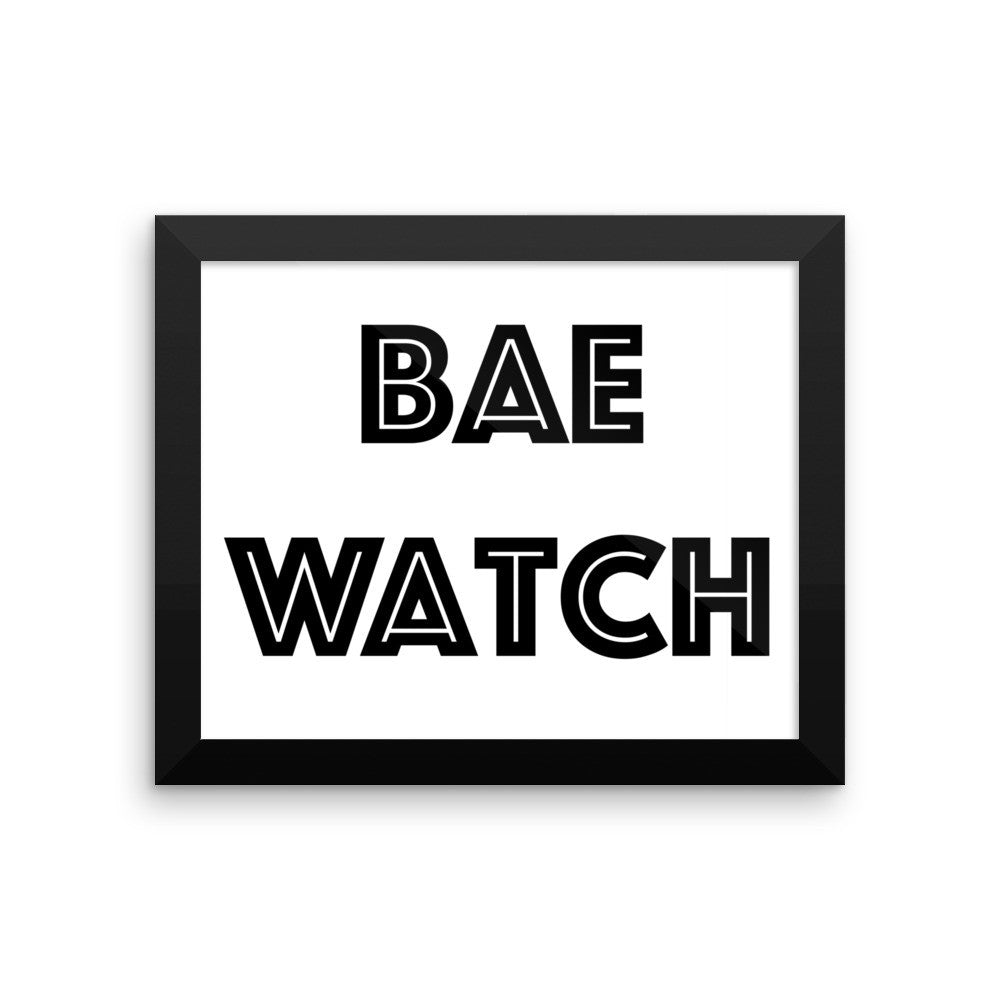 Framed poster - BAE Watch