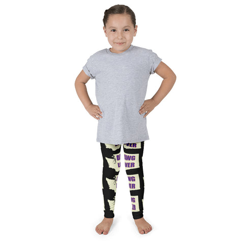 Kid's leggings - Washington Dawg Lover (black)