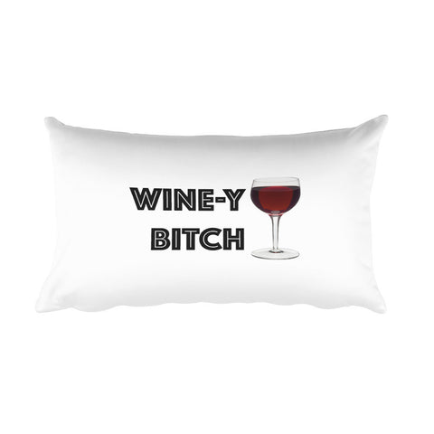 Throw Pillow - Wine-y Bitch