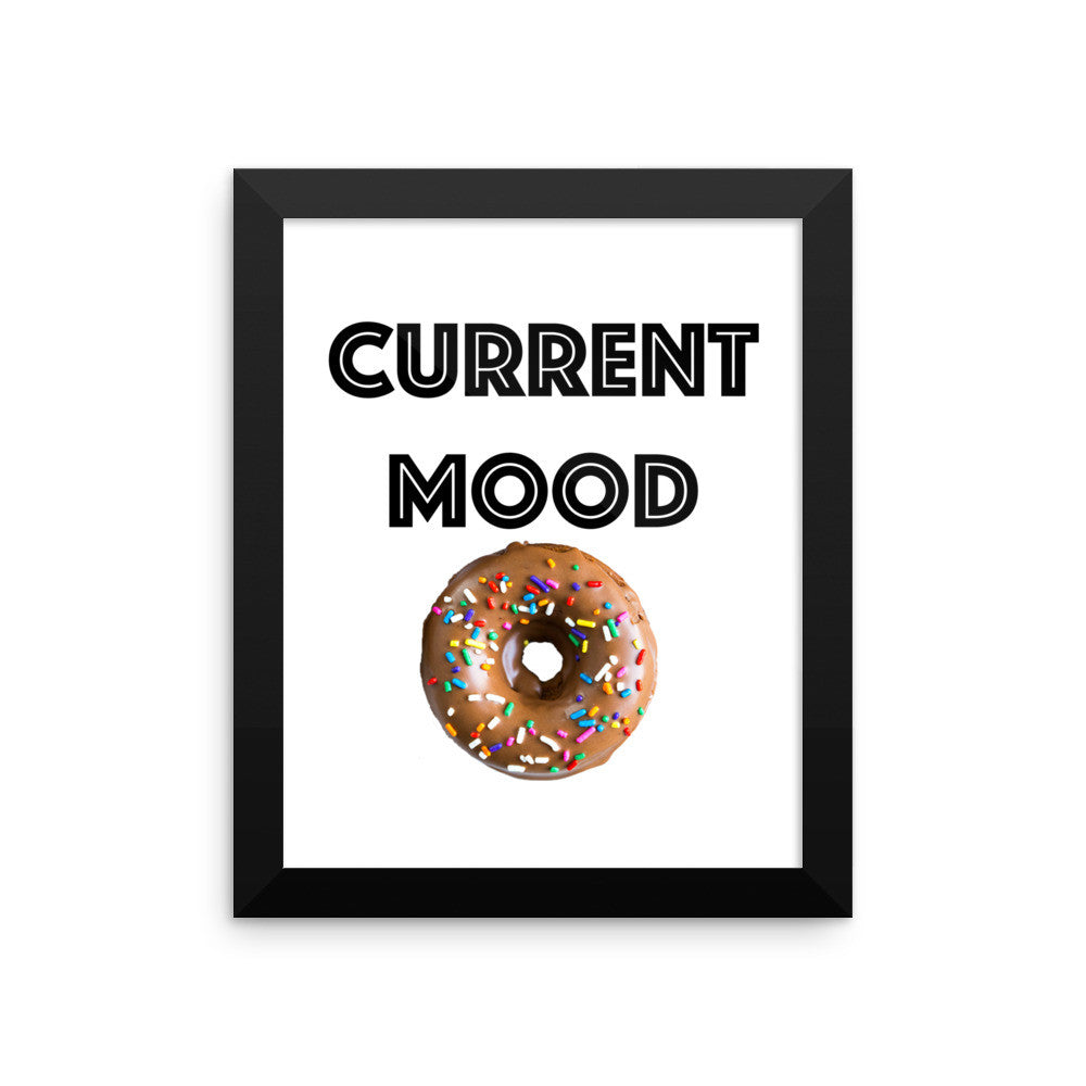 Framed poster - Current Mood (donut)