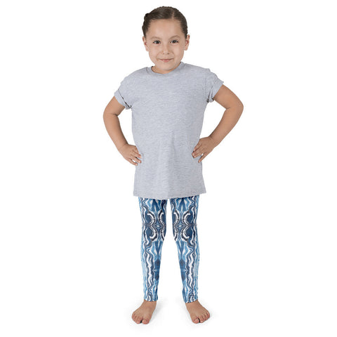 Kid's Leggings - Blue Sea
