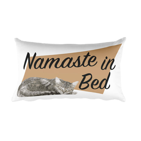 Throw Pillow - Namaste In Bed