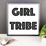 Framed poster - Girl Tribe
