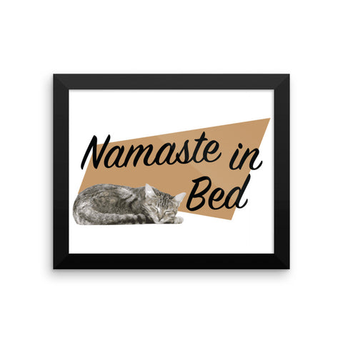 Framed poster - Namaste In Bed