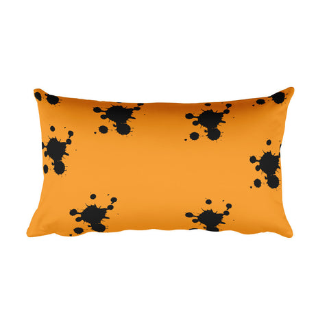 Throw Pillow - Orange & Ink