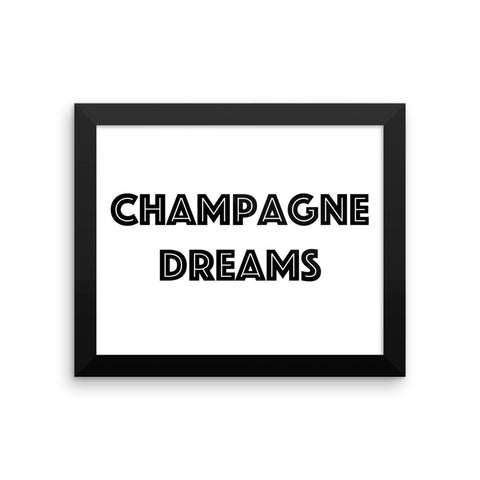 Framed poster - Champagne Dreams