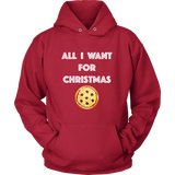 Holiday Hoodie - All I Want For Christmas (pizza)