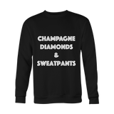 Holiday Sweatshirt - Champagne Diamonds Sweatpants