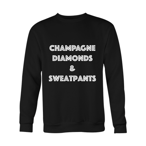 Crewneck Sweatshirt - Champagne Diamonds & Sweatpants