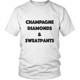 T-Shirt - Champagne Diamonds & Sweatpants