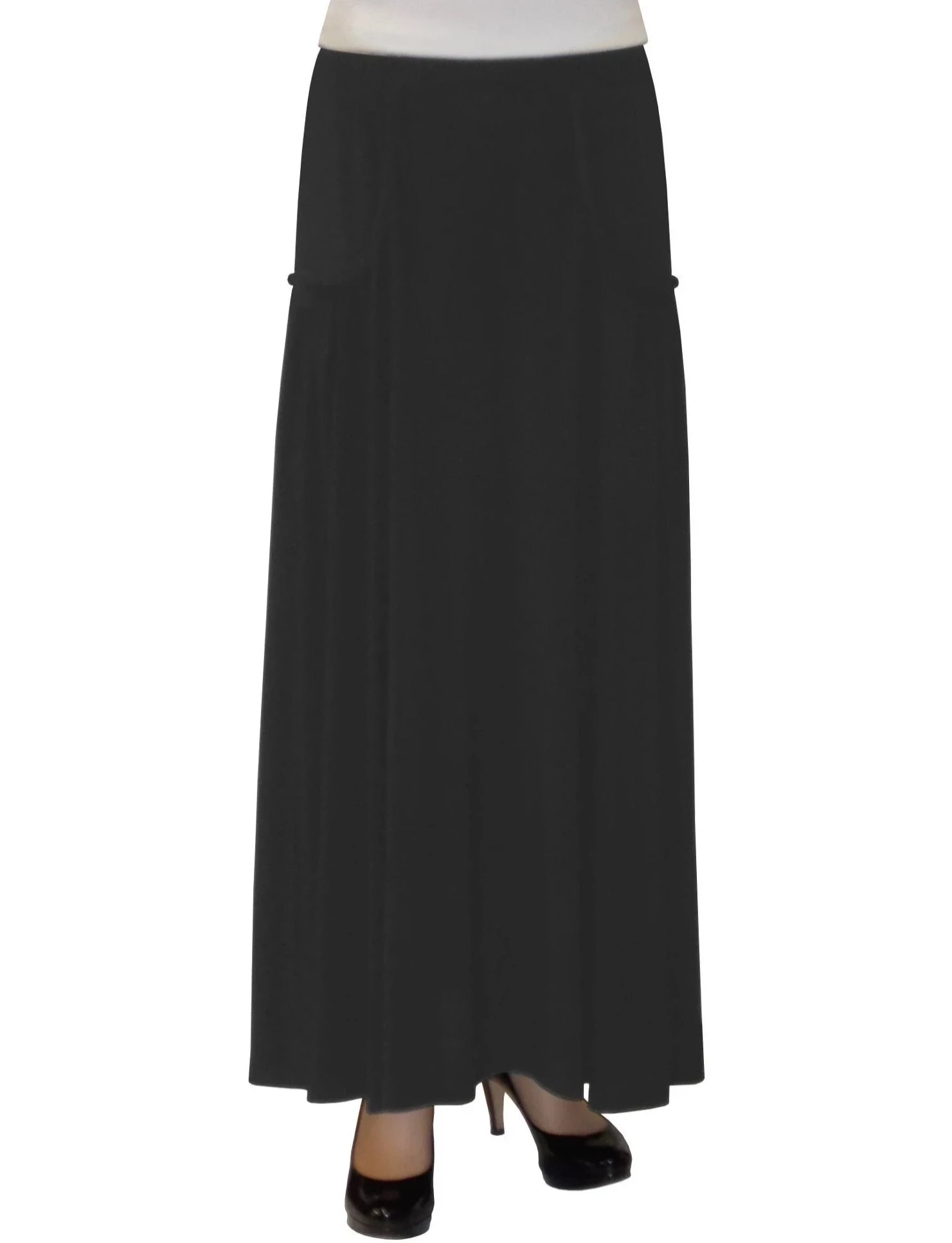 Women's Faux Pocket Ankle Length Long Maxi Skirt