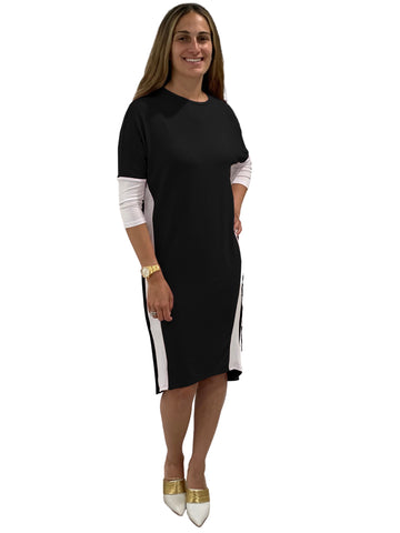 Women's Color Blocked Slim Dress