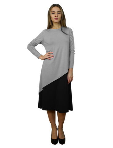 Women's Layered Asymmetrical Midi Dress