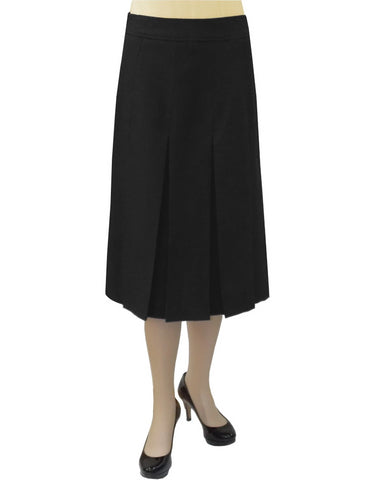"Women's 4"" Narrow Box Pleated Below the Knee Length Skirt"
