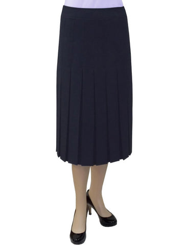 "Women's 2"" Narrow Box Pleated Below the Knee Length Skirt"