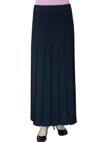 "Women's 2"" Narrow Box Pleated Ankle Length Long Maxi Skirt"
