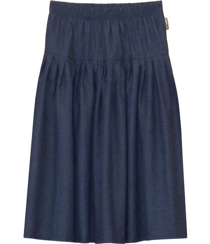 Girl's Original Biz Style Below the Knee Length Denim Skirt