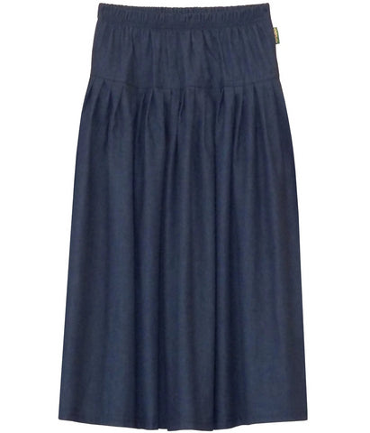 Girl's Original BIZ Style Long Denim Skirt Dark Blue