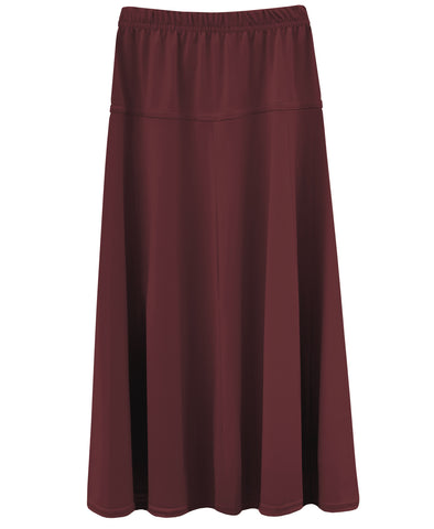 Girl's Stretch Knit Fit and Flare A-Line Maxi Skirt