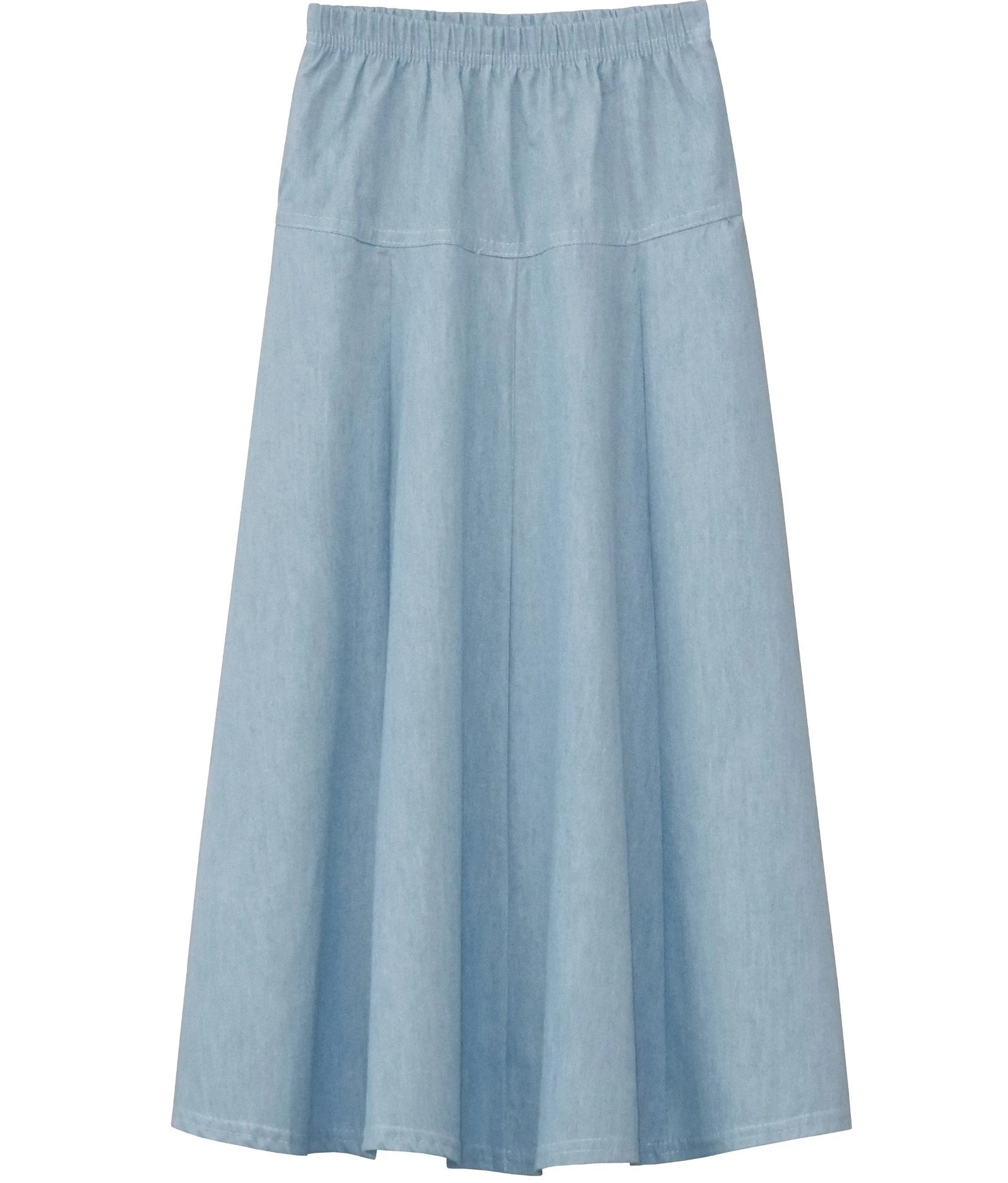 BabyO Girls Basic Stretch Knit Fit and Flare A-Line Maxi Skirt Childrens