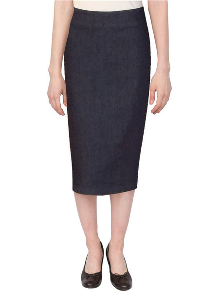 Women's Below The Knee Stretch Denim Pencil Skirt